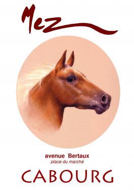 affiche - cheval MEZ Cabourg