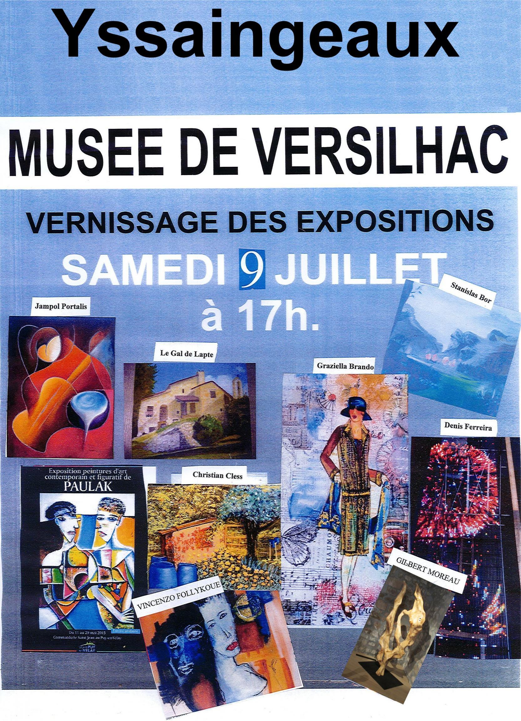 Actualit� de Gilbert Moreau Sculpteur sur bois - Tourneur d'art Vernissage des expositions au mus�e de Versihac