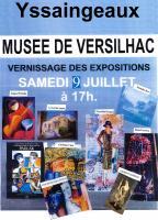 Vernissage des expositions au mus�e de Versihac , Gilbert Moreau Sculpteur sur bois - Tourneur d'art