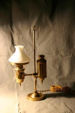 quinquet � huile adapt� � l'�lectricit� (r�versible)