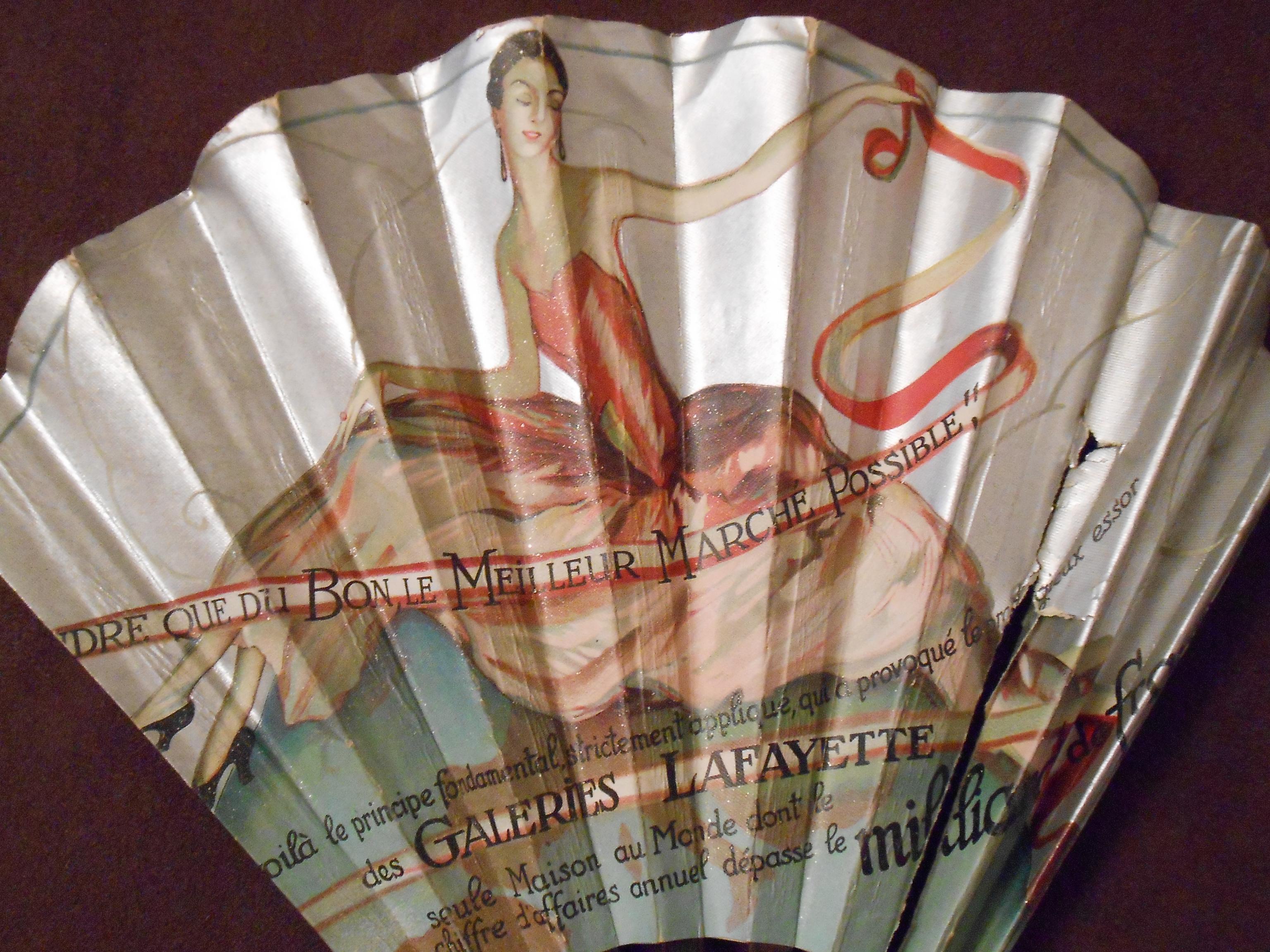 Actualité de Anne-Catherine Durand anne-catherine créations Eventail publicitaire ancien