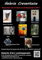 EXPOSITION DE SCULPTURES,GALERIE CRAVANTAISE , RICHARD Gabriel