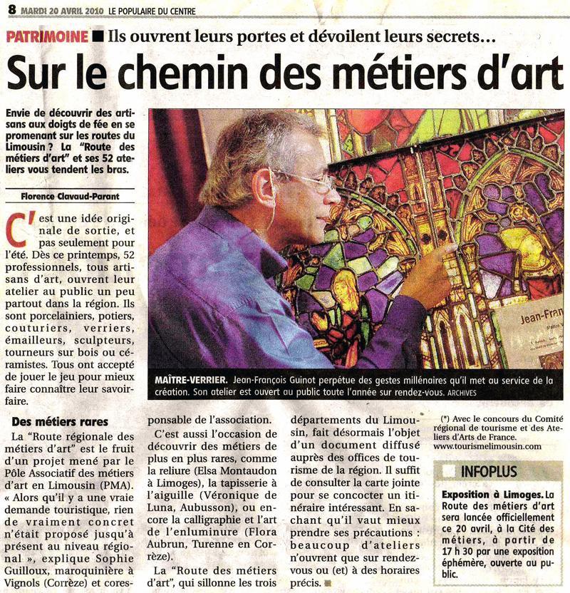 Actualité de VITRAUX GUINOT LA ROUTE DES MÉTIERS D'ART