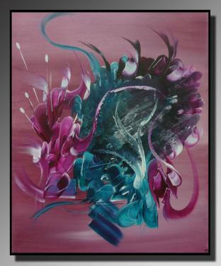 LE CACHE CACHETTE Taille : 46X55 Peinture abstraite   Acrylique au couteau/pinceau Toile sur ch�ssis bois Cotation Drouot Site officiel : http://www.mapeinturesurtoile.com Prix : me contacter