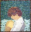 Femme et enfant    Fresque murale extérieure d'après photo 85*85 cm :: grès cérame,     grès émaillé