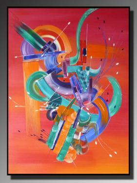ENVOUTEMENT  Taille : 73x100 Peinture abstraite   Acrylique au couteau/pinceau Toile sur ch�ssis bois Cotation Drouot Site officiel : http://www.mapeinturesurtoile.com Prix : me contacter