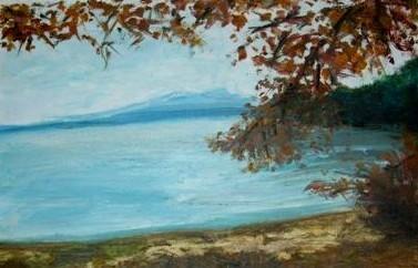 Le lac du poète K.H.Macha, Bohême, huile sur toile