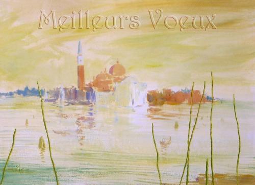 carte MEZ - Meilleurs voeux Venise