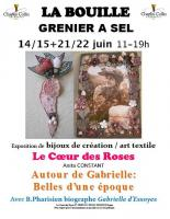 Actualité de Anita CONSTANT Le Coeur des Roses Exposition Autour de Gabrielle, belles d'une époque