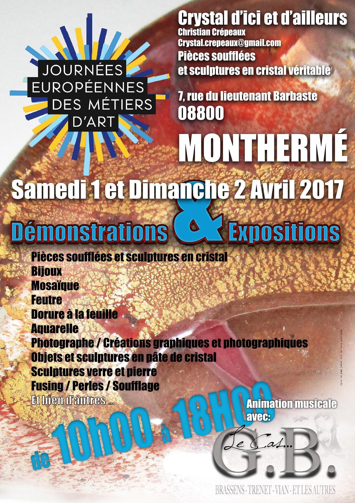 Actualité de MERCIER Catherine Journées européennes des métiers d'art à Monthermé