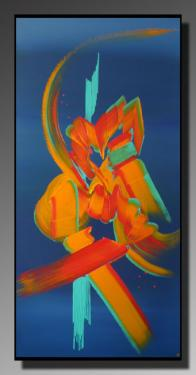 MIROIR DU COEUR Taille : 50X100 Peinture abstraite   Acrylique au couteau/pinceau Toile sur ch�ssis bois Cotation Drouot Site officiel : http://www.mapeinturesurtoile.com Prix : me contacter