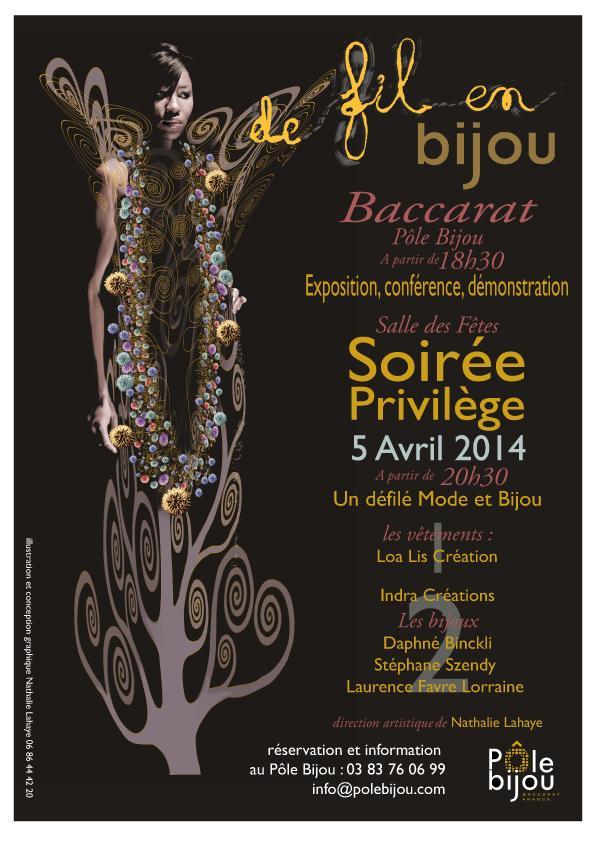 Actualité de Nathalie Lahaye- Mangold Nathalie Lahaye Création Printemps de la Mode - de fil en bijou 2014