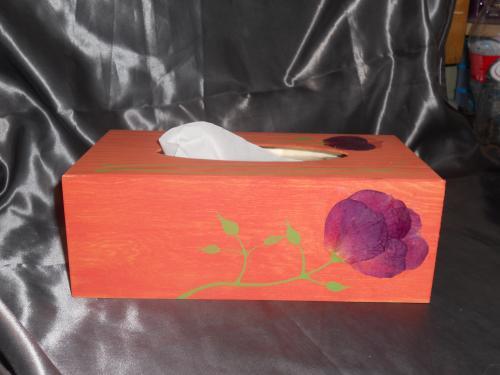 boîte bois pour mouchoirs
