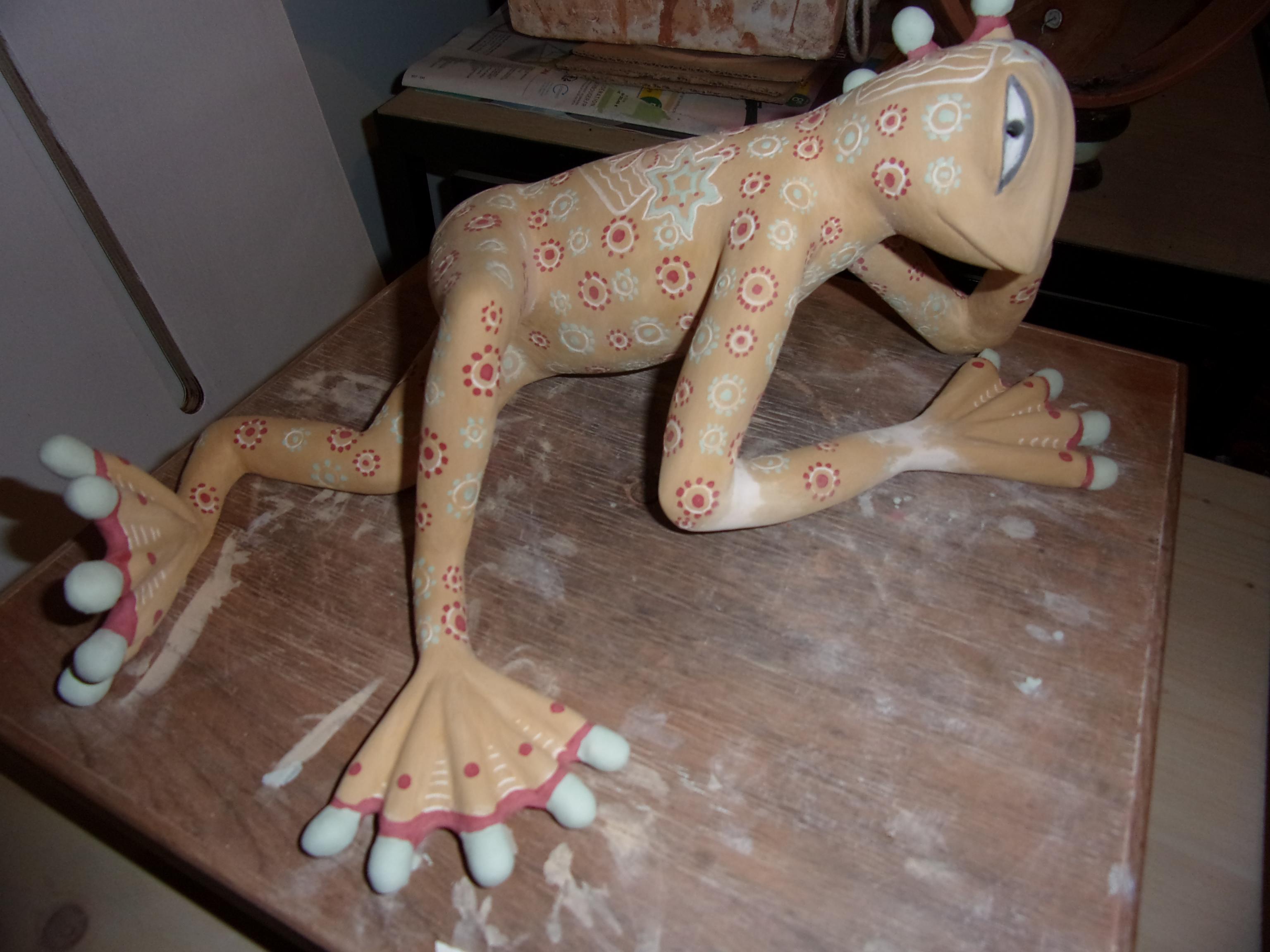 Actualité de marielle legeron artiste commande d'une grenouille