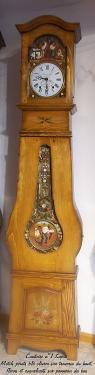 Comtoise n�1 Sapin massif avec motifs peints main