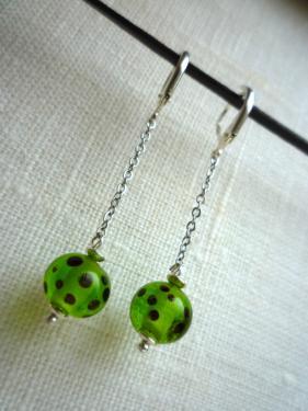 Boucles d'oreilles perles de verre au chalumeau