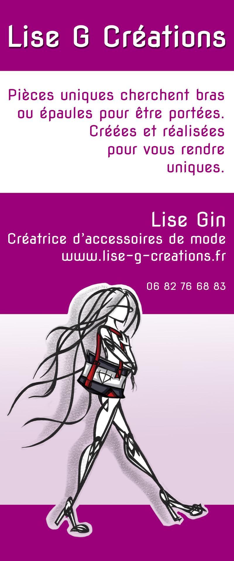 Actualité de Lise GIN Lise-G-Créations ( Cap Entreprendre) Au fil de l'élégance- JEMA- 54 DOMMARTIN LES TOUL