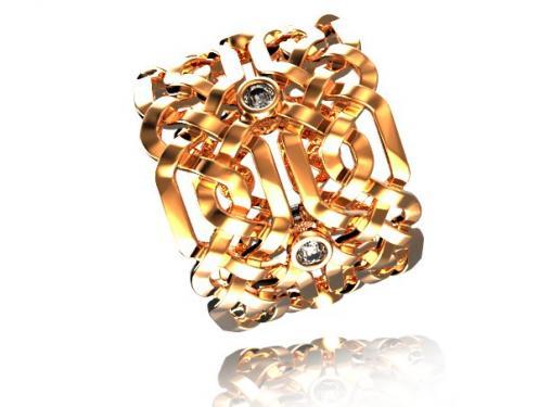 Magnifique Alliance CELTE or rose et diamants, mod�le fabriqu� � la main dans nos atelier Pyr�n�en? chaque pi�ce est unique. Vous pouvez choisir la largeur de la bague et la grosseur des pierres ainsi que la couleur d? or? Nous pouvons vous r�aliser un devis gratuit sur notre site de cr�ation www.creer-mon-bijou.fr