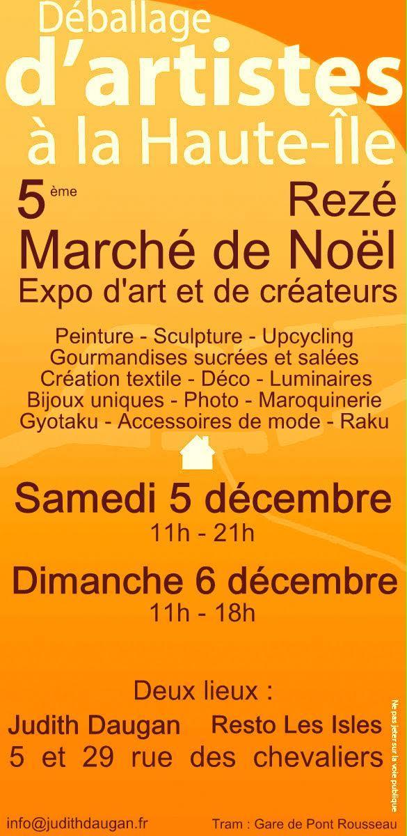 Actualité de Elisabeth JAN Marché de Noël de Haute Ile