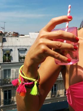 Bracelets Multicolores en perles de verre & breloques