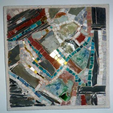 Formes colorées  Pierres diverses  40x40
