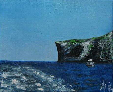 Du côté des calanques de Marseille, acrylique sur toile