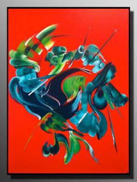VOLCAN DU COEUR  Taille : 54X73 Peinture abstraite   Acrylique au couteau/pinceau Toile sur ch�ssis bois Cotation Drouot Site officiel : http://www.mapeinturesurtoile.com Prix : me contacter