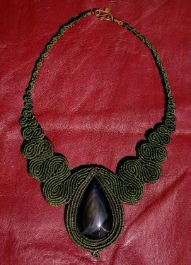 Obsidienne arc-en-ciel du Mexique