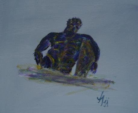 Hercule, acrylique sur toile