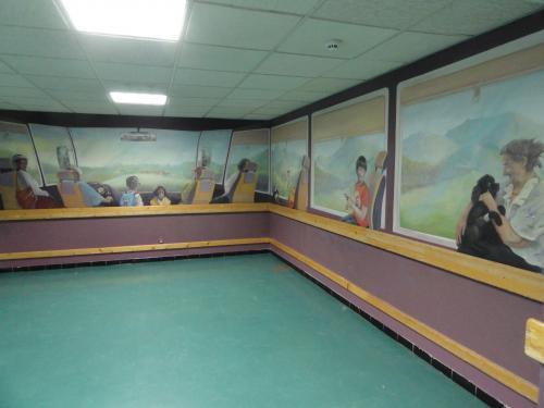 Fresque murale pour bloc prêt opératoire.