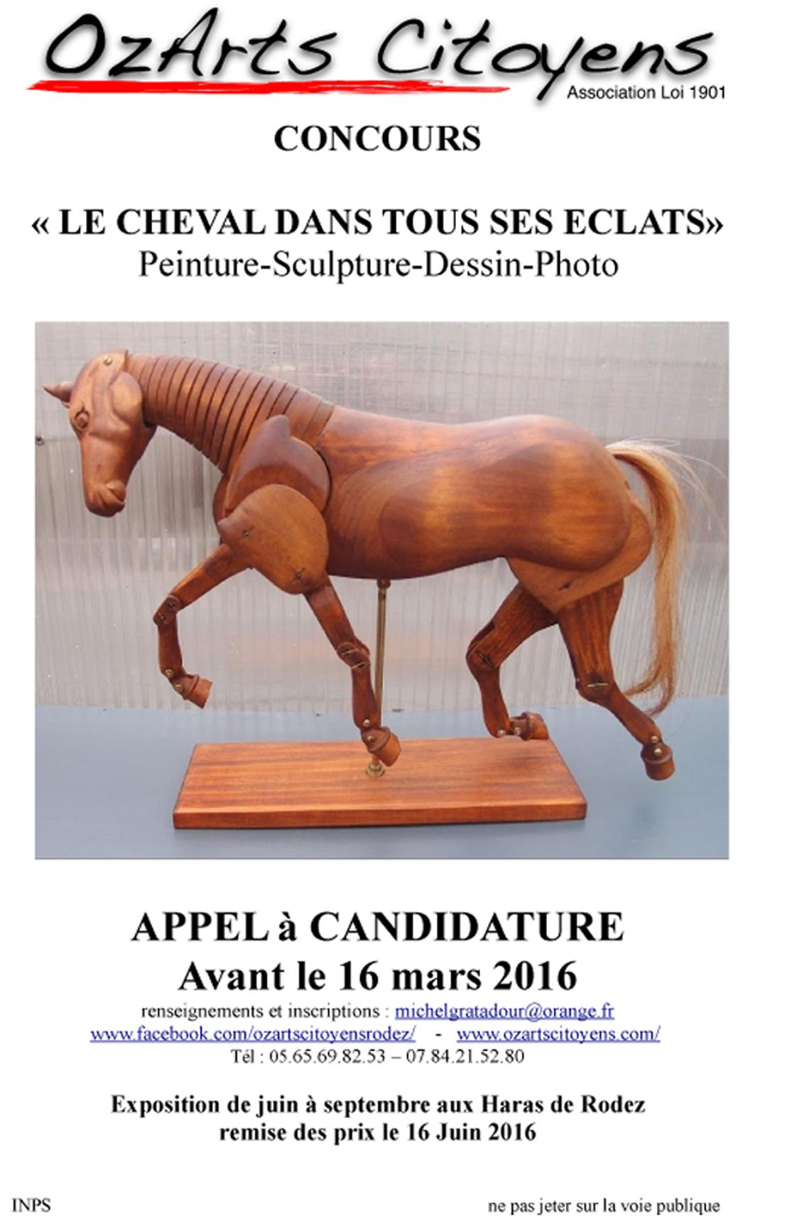 Actualité de facebook.com/ozartscitoyensrodez  association artistique Concours de peinture, sculpture, .....