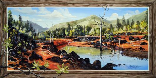 N°34 Pêcheur de Black Acrylique et huile sur toile 100 X 50