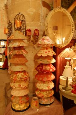 Abat-jour coniques tissus anglais
