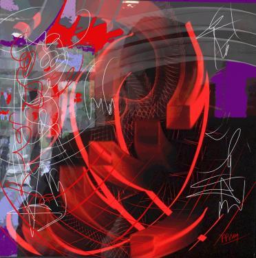 Autoportrait Digital HDR 80x80 sur Dibon