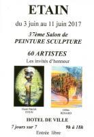Exposition d'Etain , francine D'oliveira Rezende artiste peintre