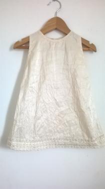 robe en taffeta et son petit boléro + bandeau cheveux 12/18 mois ref M 281