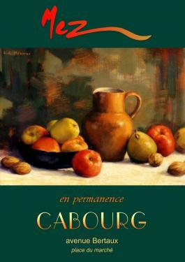 affiche - pommes et pichet MEZ Cabourg