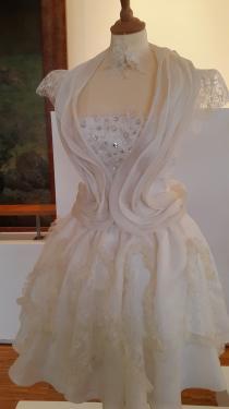 Cr�ation Robe de soir�e et c�r�monie � Mademoiselle � au Mus�e des Meilleurs  Ouvriers  de France � Bourges