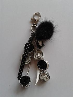 porte clefs noir et blanc