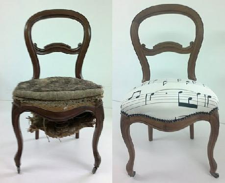 Réfection complète d'une chaise de style Louis Philippe inspiré par le thème