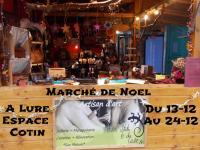 Marché de Noel à Lure , isabelle jardon les arts du cuir