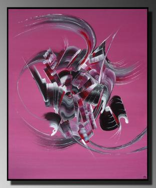L'EVEIL Taille : 46X55 Peinture abstraite   Acrylique au couteau/pinceau Toile sur ch�ssis bois Cotation Drouot Site officiel : http://www.mapeinturesurtoile.com Prix : me contacter