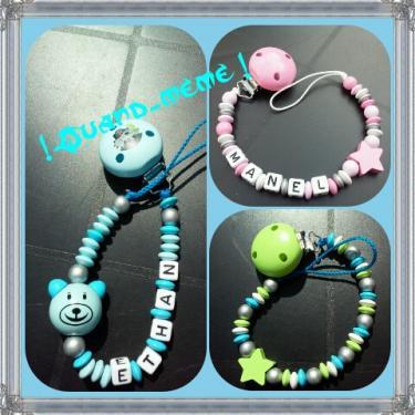 Attaches tétines personnalisables En bois, non toxique, perles spécialement conçues pour les bébés, résistent à la salive et à la transpiration