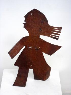 sculpture en acier  hauteur 45cm