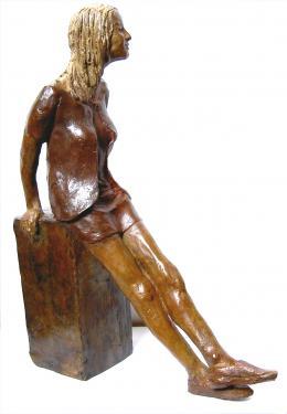 Angélique Bronze patine brune  34x25x8 cm