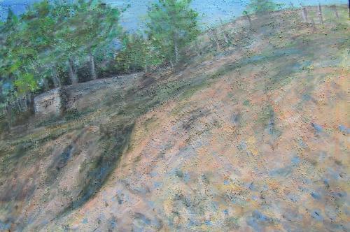 La dune, Bretagne, acrylique sur toile