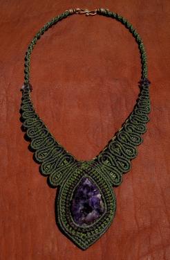 Améthiste du Mexique (Vera Cruz),fermoir cuivre