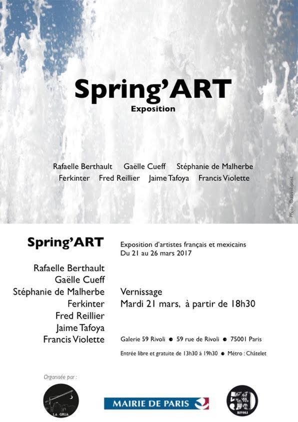 Actualité de Jaime Tafoya Spring'ARTS