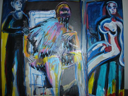 desespoir du peintre la burka petit format