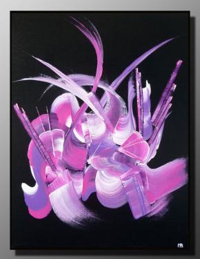 INCITATION AU VOYAGE Taille : 27X35 Peinture abstraite   Acrylique au couteau/pinceau Toile sur ch�ssis bois Cotation Drouot Site officiel : http://www.mapeinturesurtoile.com Prix : me contacter